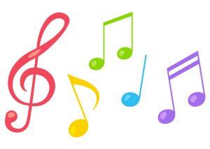 カラフル音符たち