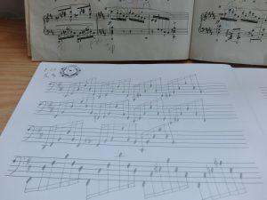 左伴奏記譜