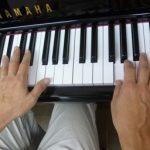 ピアノ手元