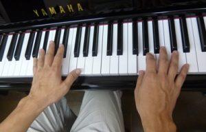 ピアノ手元お