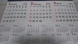 1年カレンダー